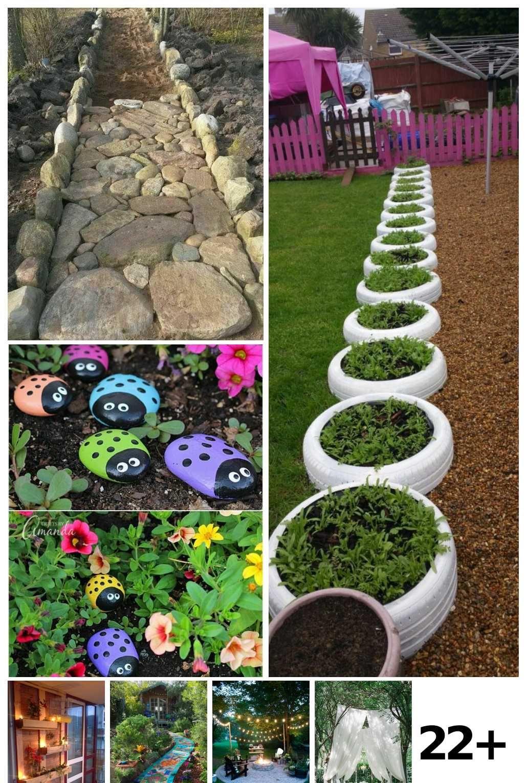 22 Outdoor Garden Decor Back Yards Ideas Outdoor Garden Decor Diy Garden Garden Decor