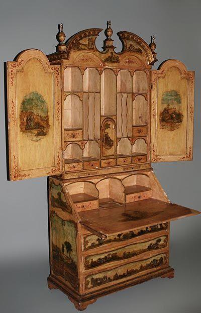 Fine Italian Rococo Style Polychrome