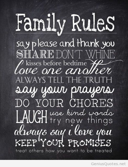 Inspirational family quotes hd wallpapers Family rules