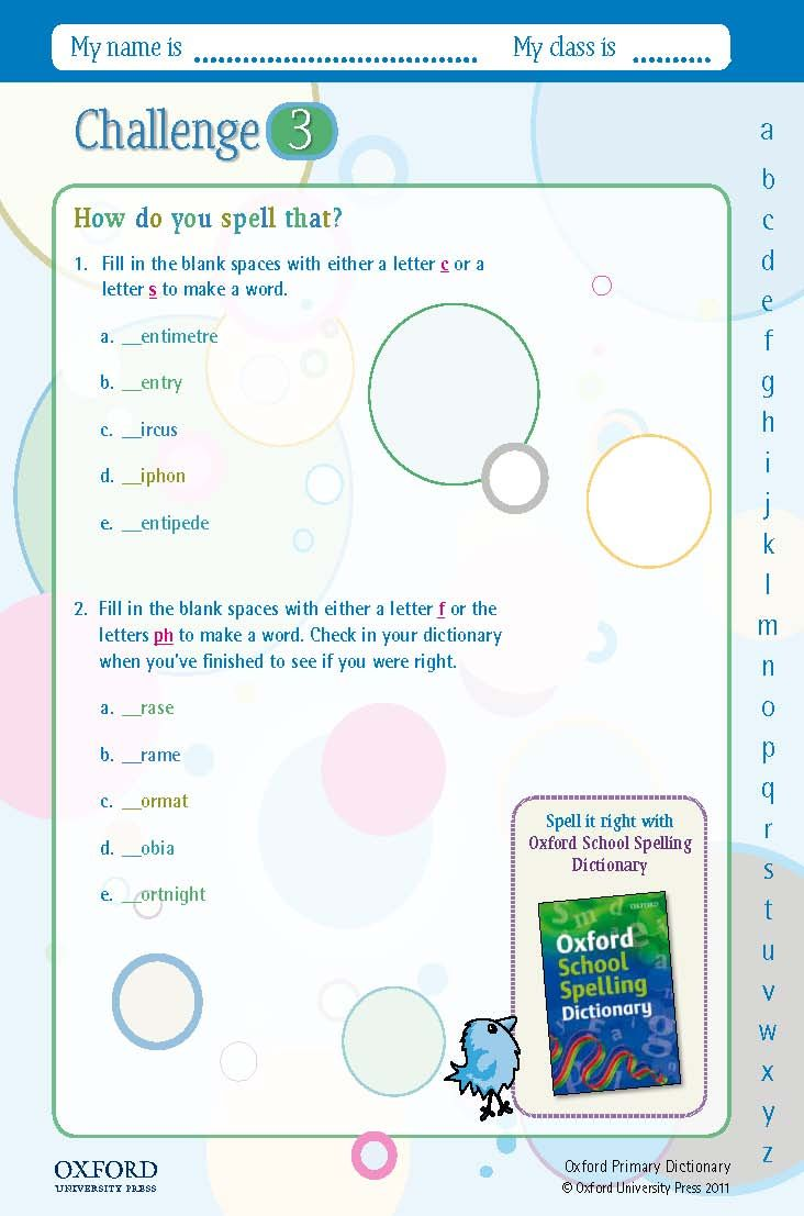 worksheet How To Make A Fill In The Blank Worksheet download your free oxford primary dictionary challenge worksheet fill in the blank spaces with either