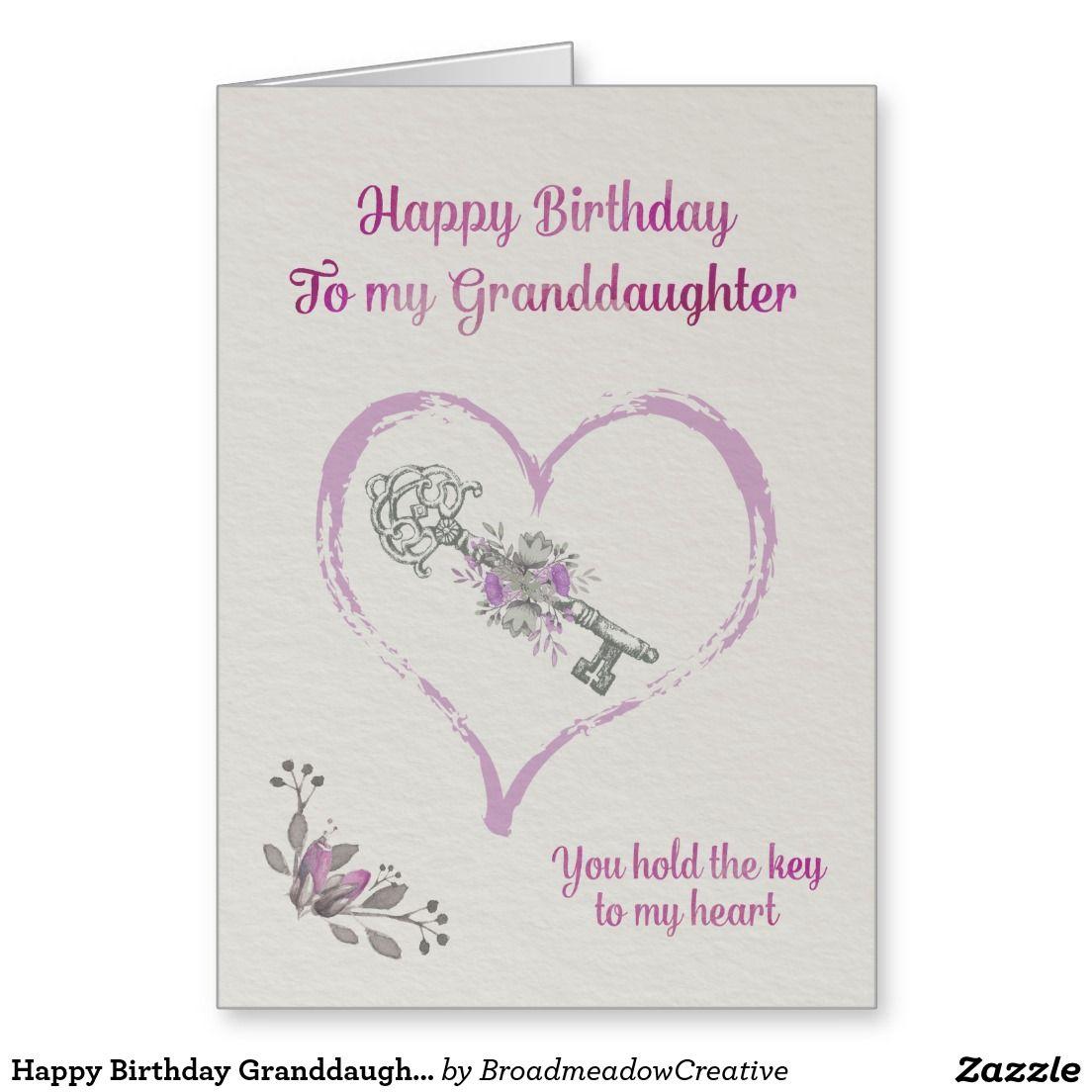 Happy Birthday Granddaughter Card Zazzle.co.uk Happy