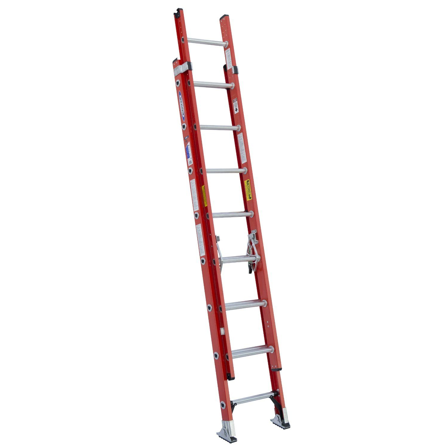 Werner Fiberglass Extension Ladder Well Made And Sturdy Without The Bounce Of Aluminum Ladders Rated For Up To 300lbs Ladder Fiberglass Aluminium Ladder