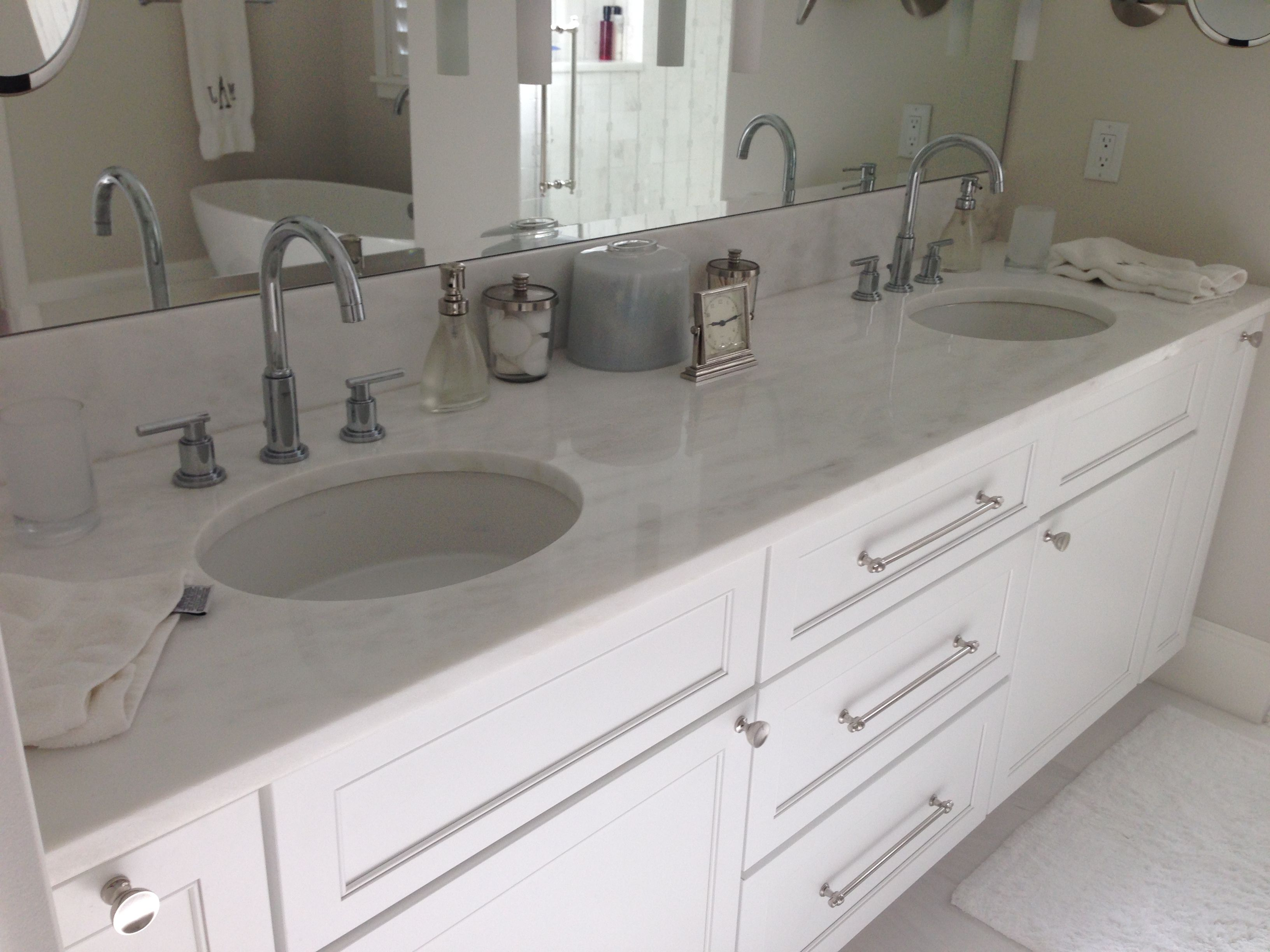 Bianco rhino marble Vanity | ADP Granite Bathroom Countertops and ...