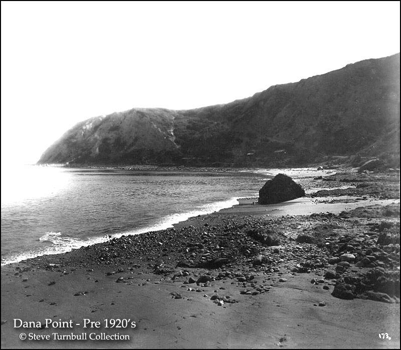 Photo Orange 1920s California Dana Point Scenic Inn on Beach