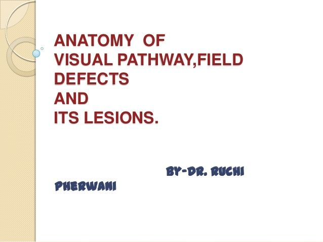 Anatomy of visual pathway, field defects and its lesions. | NP BOARD ...