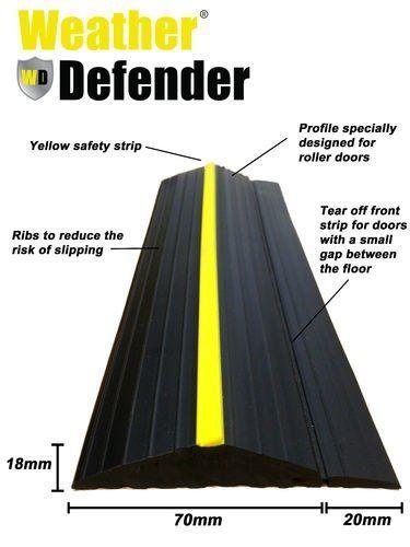 Weather Defender Heavy Duty 50m Garage Door Floor Seal Strip With