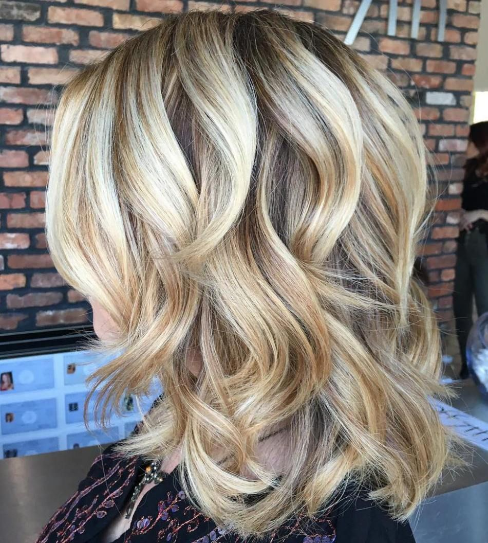 darn cool medium length hairstyles for thin hair curly blonde