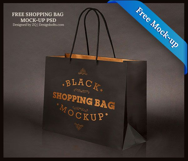 free black shopping bag mock up psd file mockups free pinterest
