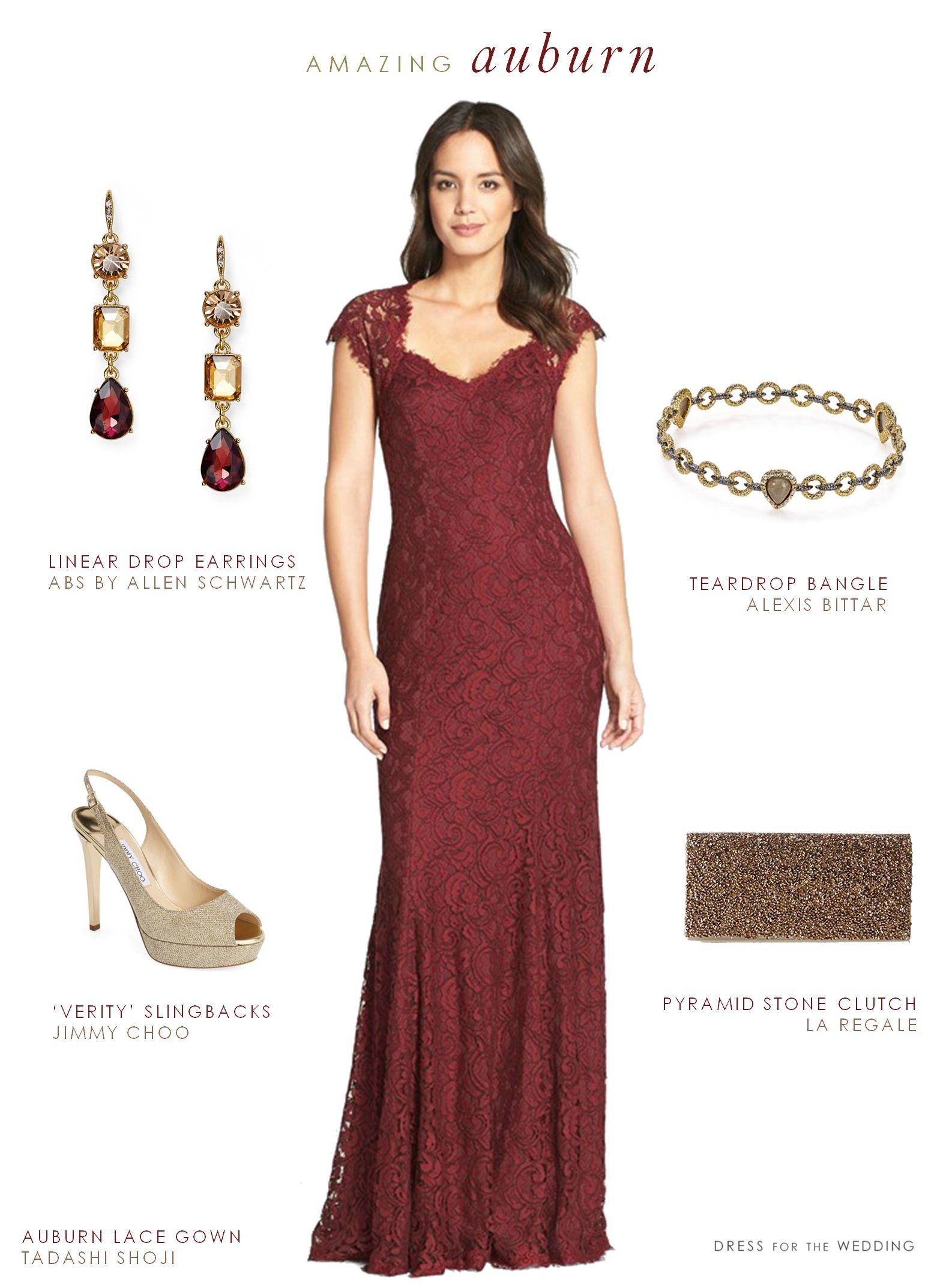 Dresses to wear to fall wedding as a guest  Burgundy Lace Gown  Formal wedding guests Formal wedding and Formal
