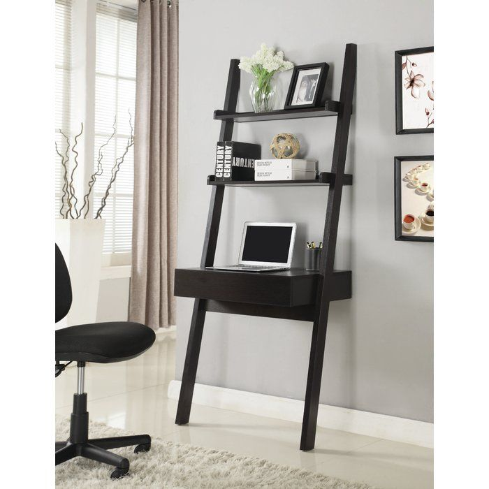 Beech Hill Ladder Writing Desk With Images Ladder Desk Leaning Desk Leaning Ladder Desk
