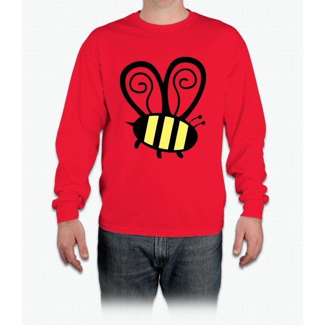 Giant Cute Bumble Bee Insect Bee Movie Long Sleeve T-Shirt