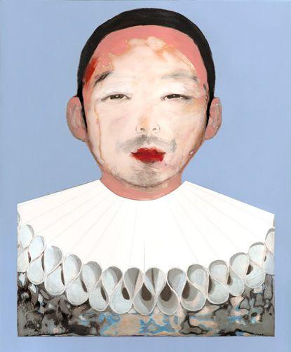 Shusuke as Pierrot.