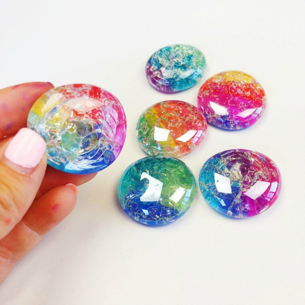 Photo of DIY Glass Cracked Gems and Stones Jewelry • Color Made Happy