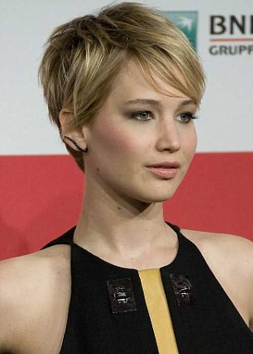 Jennifer Lawrence Edgy Pixie Hairstyles