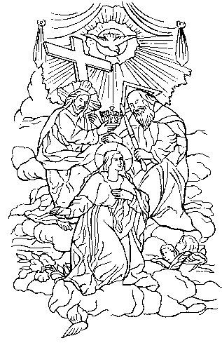 Coloring page of the Coronation of the Blessed Virgin Mary ...