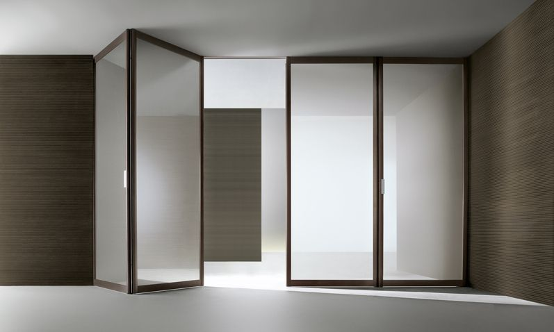 Siparium rimadesio sliding doors and walk in closet cabina armadio - Porta a libro vetro ...