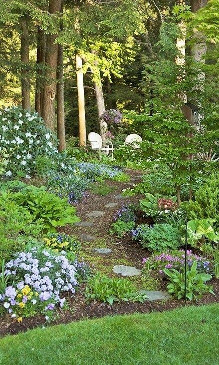 Shade Garden Ideas Yards Shade Garden Garden Woodland Garden