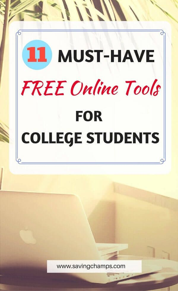 11 MustHave Free Online Tools for College Students