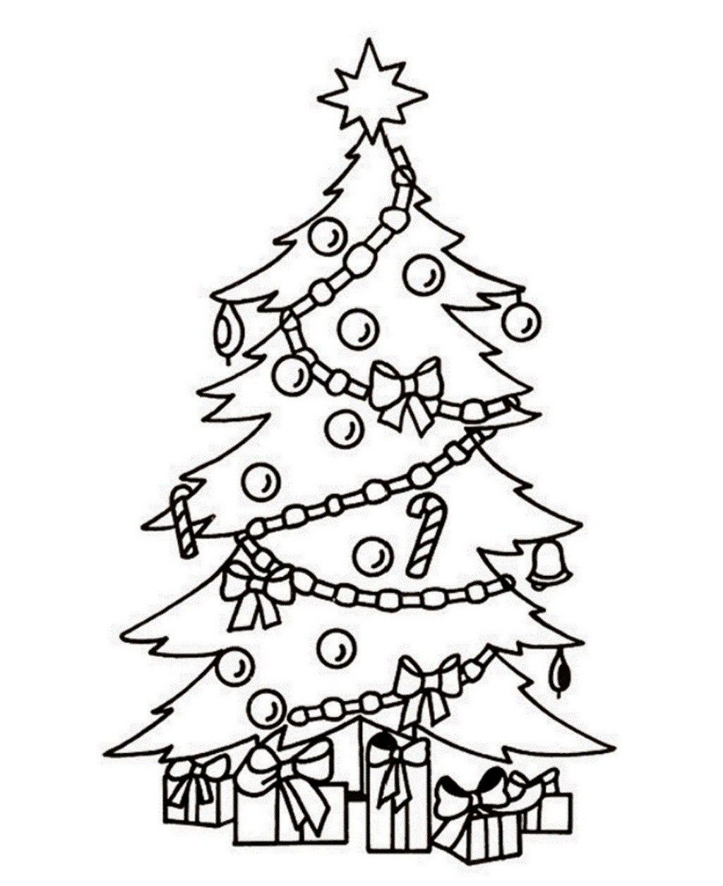 Magical Christmas Tree Coloring Pages Gift Christmas Tree Coloring Page Christmas Tree Drawing Tree Coloring Page