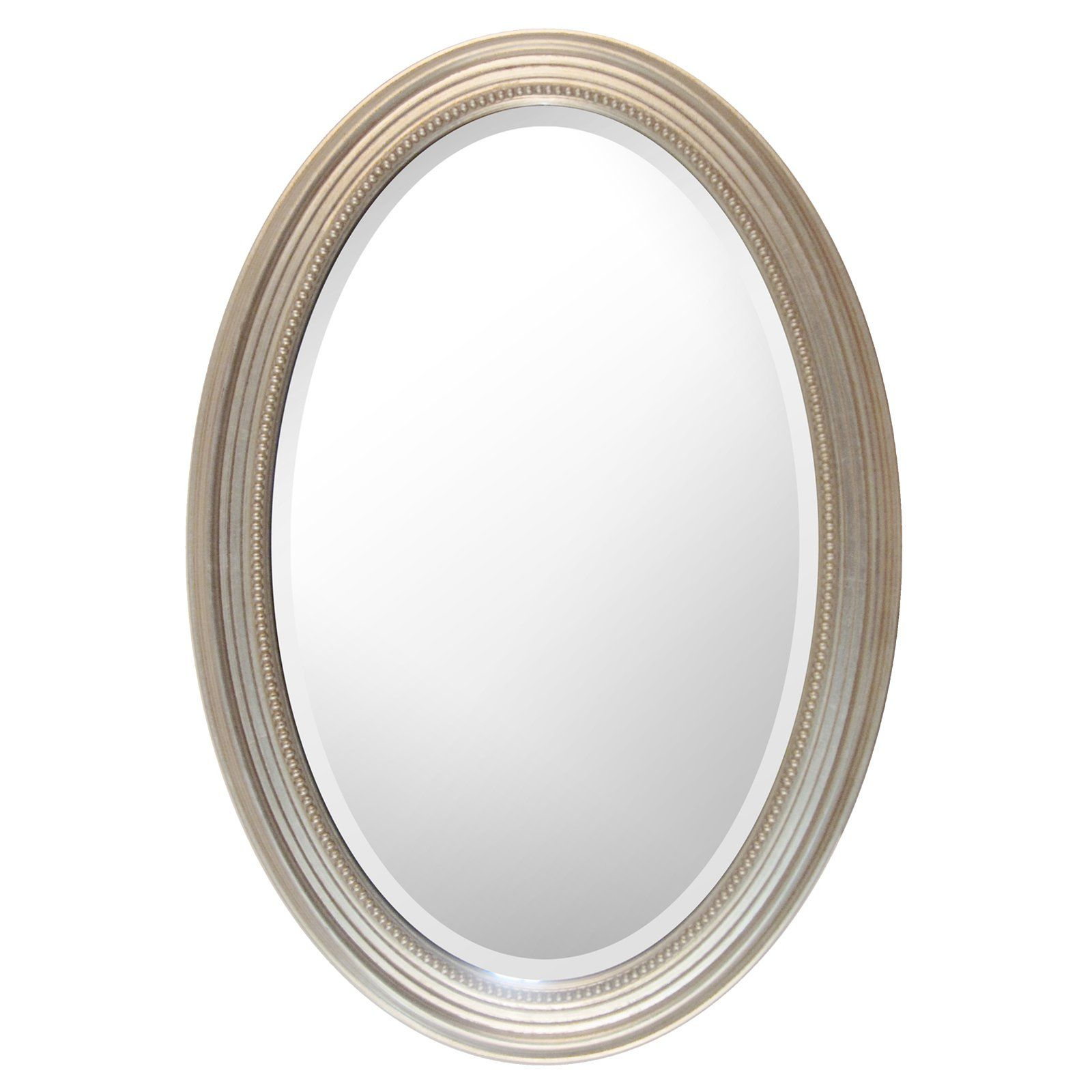 Mirrorize Canada Oval Silver Wall Mirror 21W x 31H in