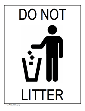 graphic about Trash Sign Printable referred to as This printable indication displays a determine inserting rubbish within a