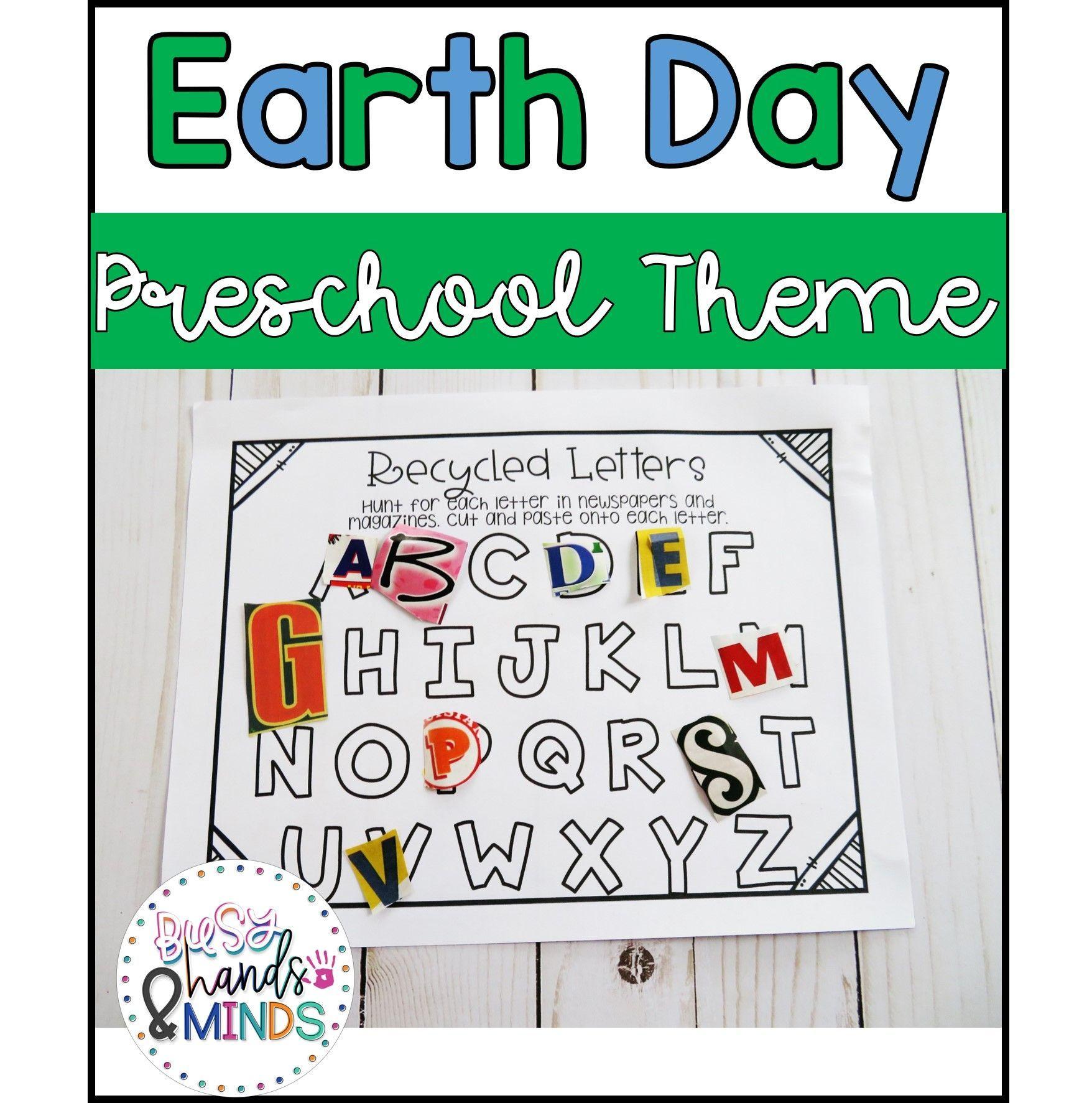 Earth Day Preschool Theme In