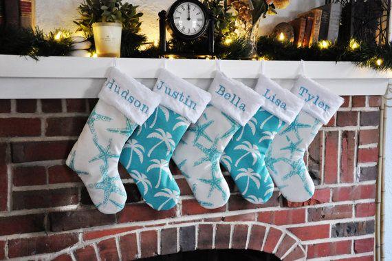 nautical christmas stocking - Coastal Christmas Stockings