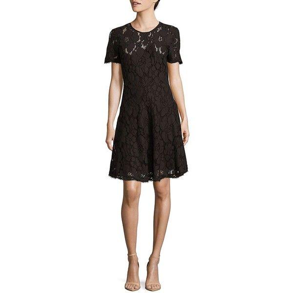 Michael Michael Kors Women s Floral Lace A-Line Dress ( 225) ❤ liked on a9d4fc4949