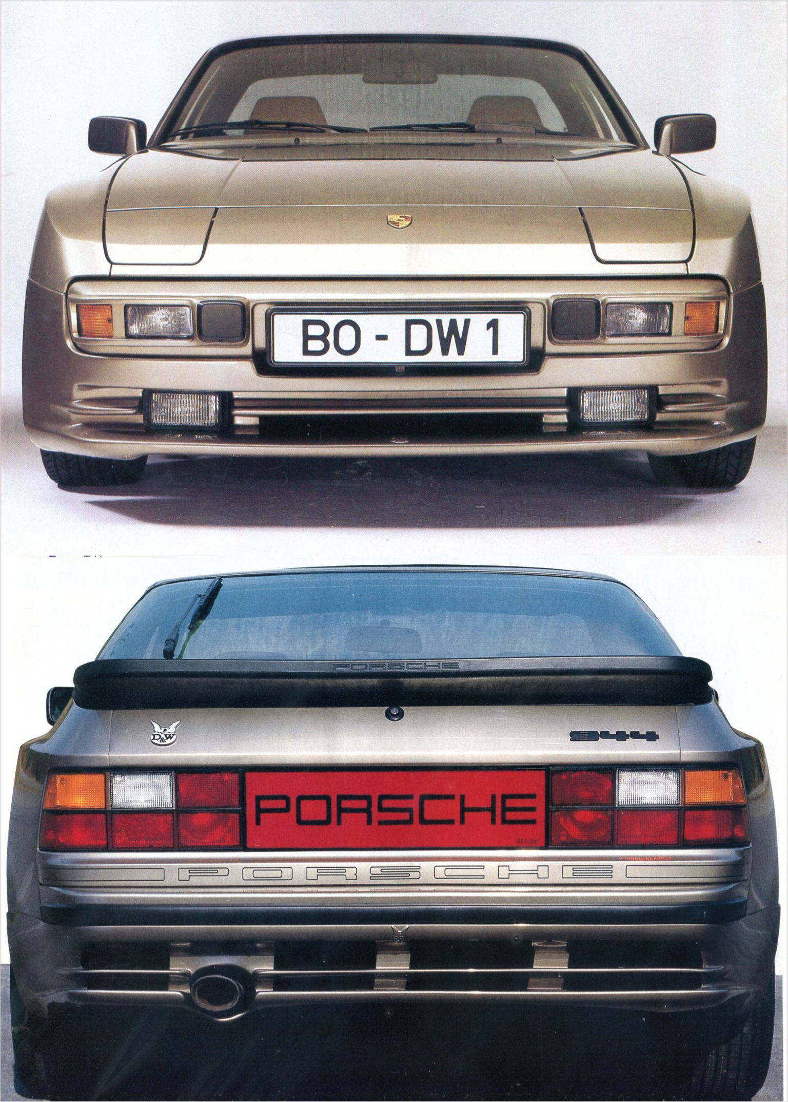 Porsche 944 Front And Rear Valance By German Tuner D W Porsche 944 Porsche Porsche 924