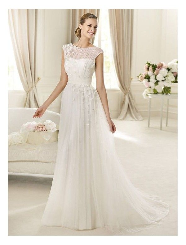 High Quality Chiffon Fabric Sheath Wedding Dress | Helpful Wedding ...