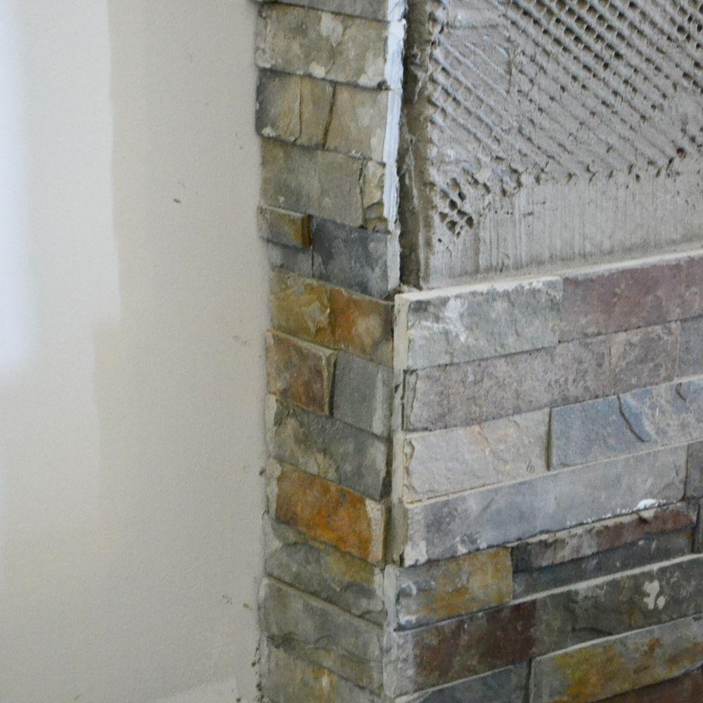 Pin By Diy Home Decor Sst On Stacked Stone Tile Stacked Stone Fireplaces Slate Fireplace Diy Fireplace