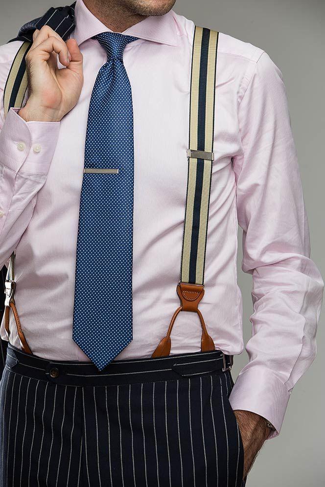 Fully Adjustable Mens Tab Braces Black Wedding Formal Occasion Wear One Size