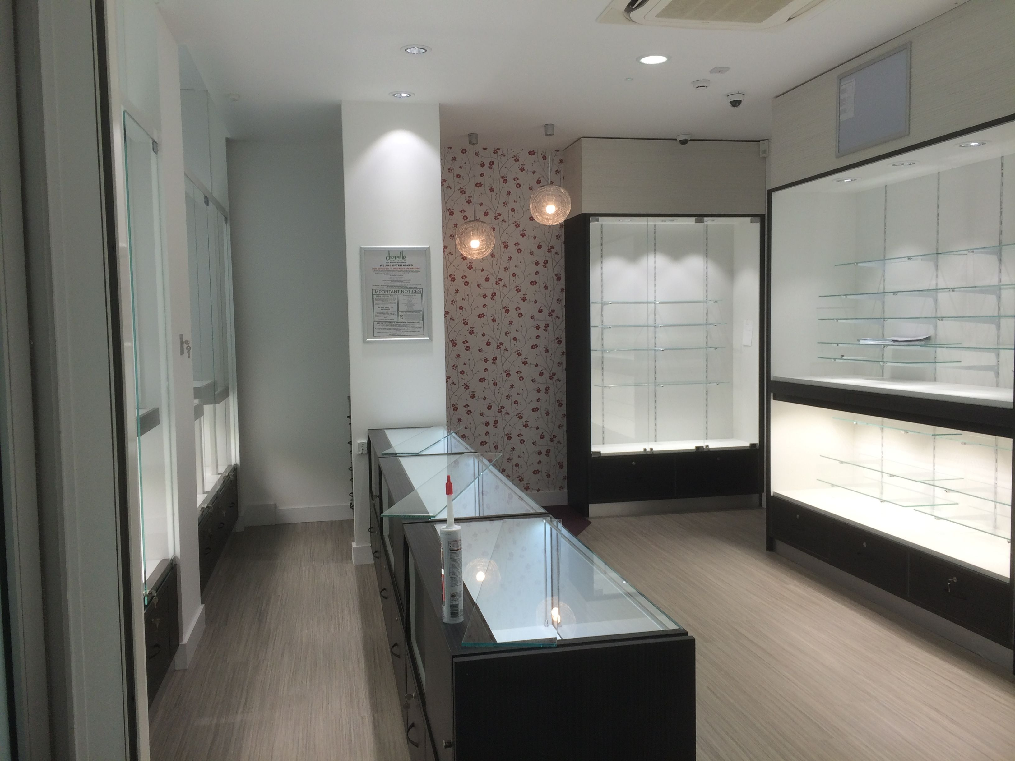 The new cabinets look very smart, gleaming in the new-look shop at ...