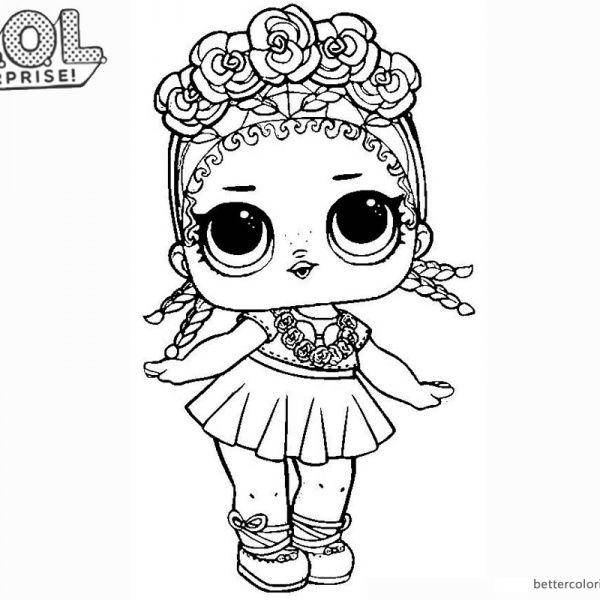 Lol Surprise Doll Coloring Pages Coconut Q T Mermaid Coloring Pages Bee Coloring Pages Coloring Pages