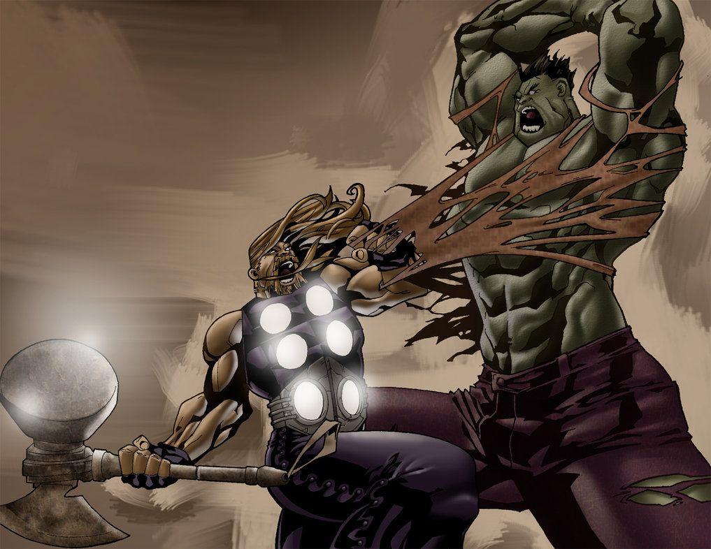 hulk vs thor by DXSinfinite  Hulk  Pinterest