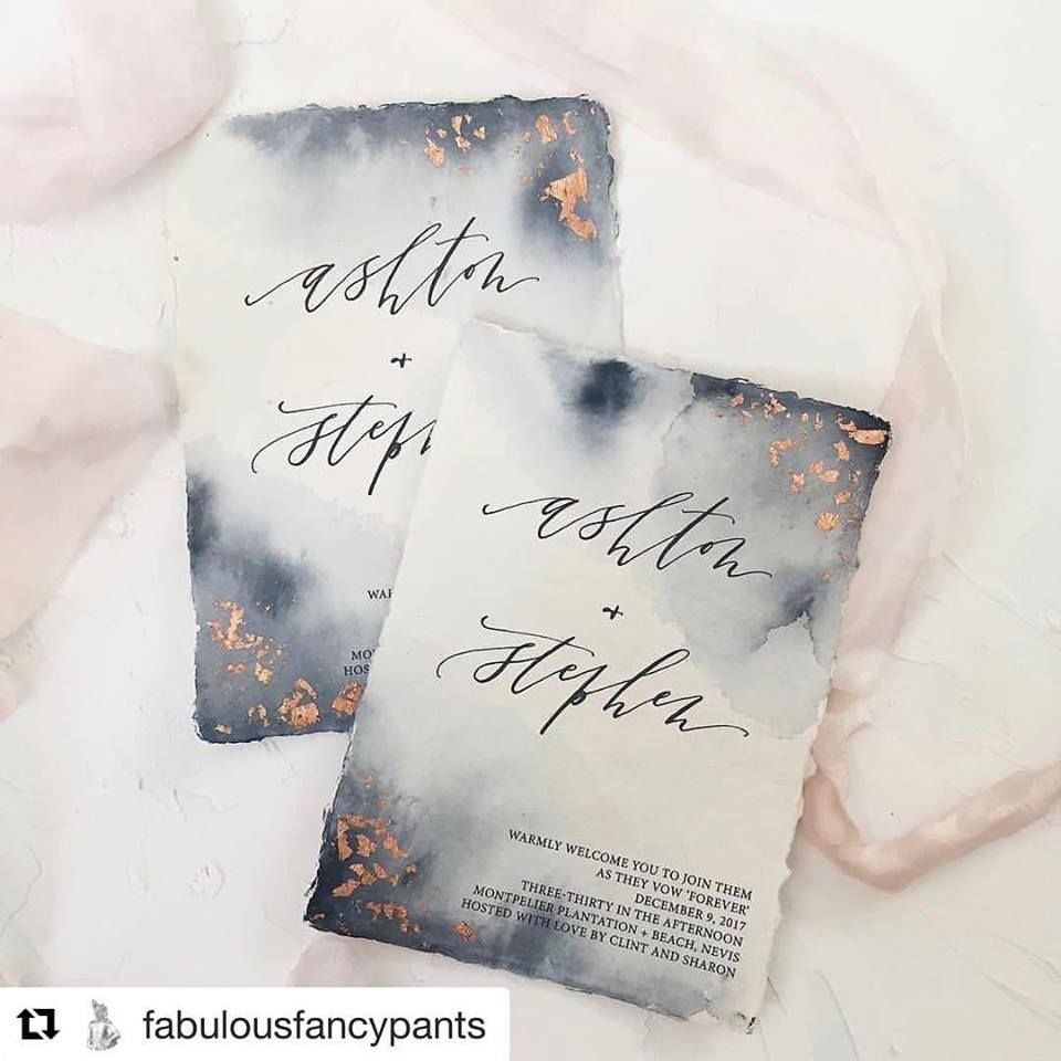 Gorgeous wedding invitations using watercolor, rose gold foil, and hand calligraphy! Perfect for any wedding from modern and elegant to relaxed and organic.