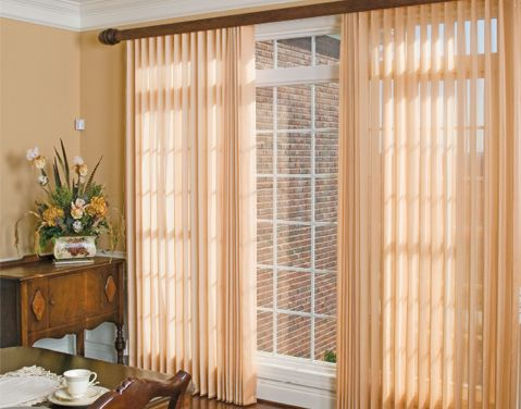 Good Love Ado Wrap Semi Sheers Over Vertical Blinds As A Light Control Window  Treatment. Ours Are White And Cover A 14 Foot Window Wall In Our Master  Bedroom