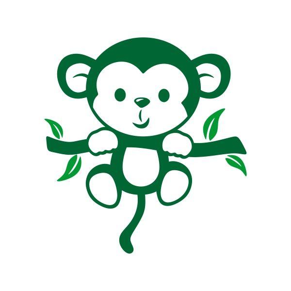 Little Monkey Cuttable Design Monkey Tattoos Little Monkeys Silhouette Crafts