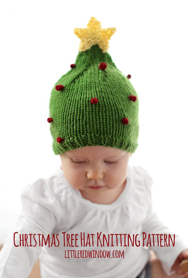 a363a8acd75 Cute Christmas Tree Hat Free Knitting Pattern!