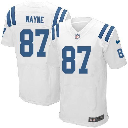 timeless design 99094 457e2 Nike Elite Mens Indianapolis Colts #87 Reggie Wayne White ...
