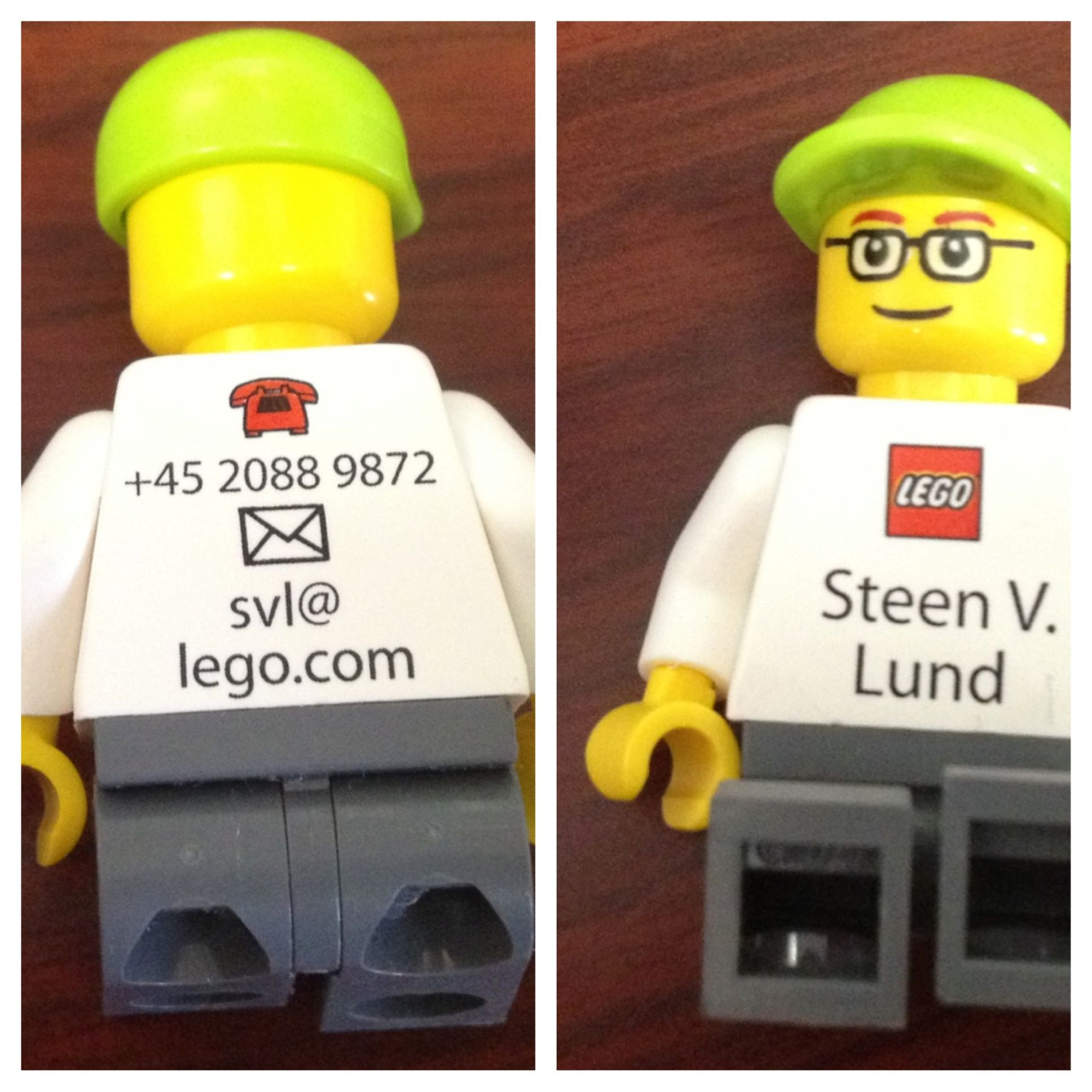 LEGO business card! My brothers should have business cards like this ...