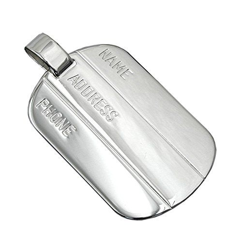 Anhänger, Erkennungsmarke, Silber 925 Dreambase http://www.amazon.de/dp/B00H2IG8QI/?m=A37R2BYHN7XPNV