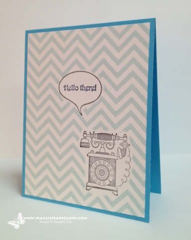 Hello There, Positively Chevron Stamp, Timeless Talk Stamp Set, Stampin' Up!, Maggie Mata  #maggiemadecards, #stampinup, #handmadecards, #cleanandsimple, #CAS