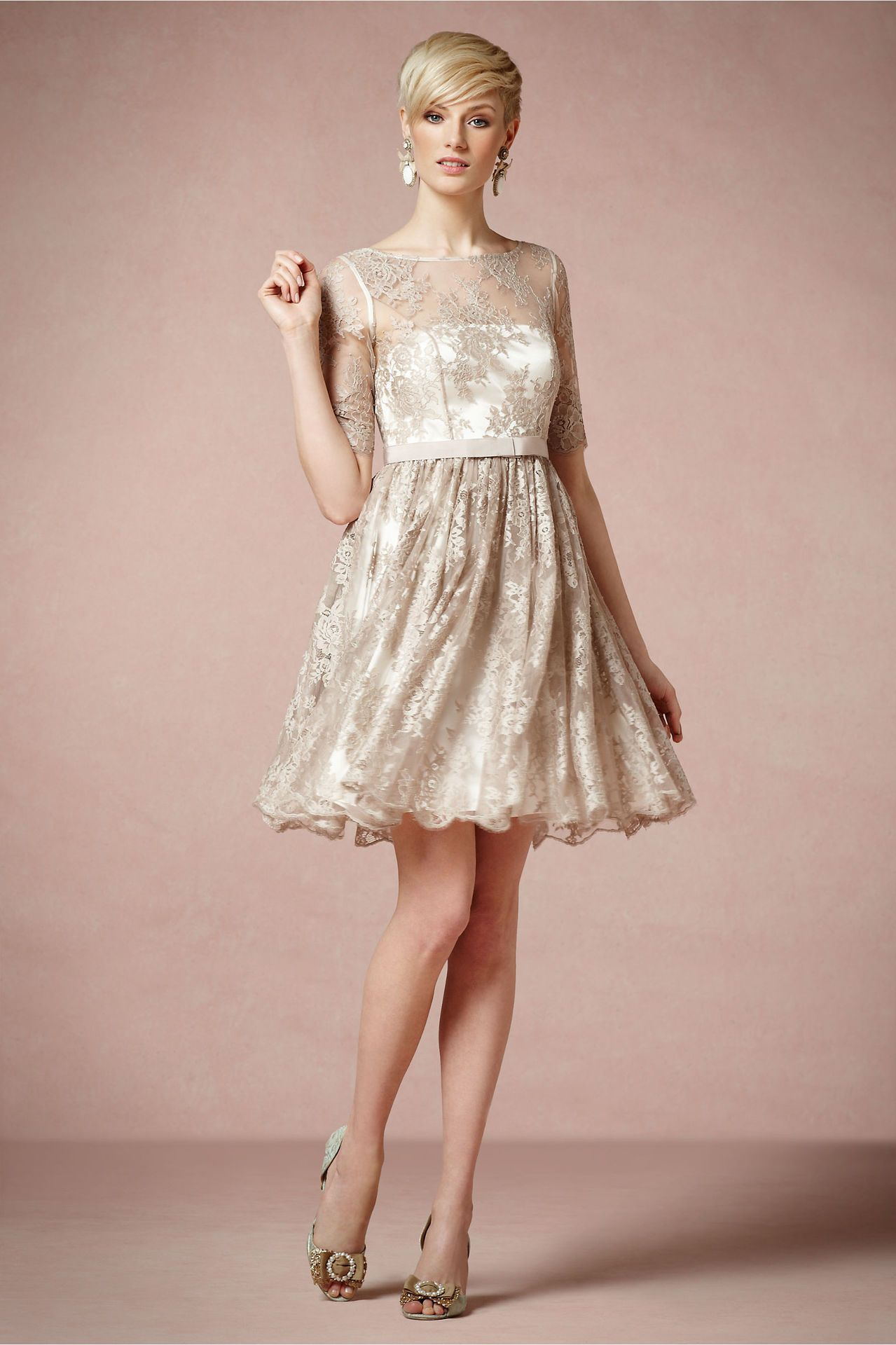Tea Rose Dress in Taupe from BHLDN