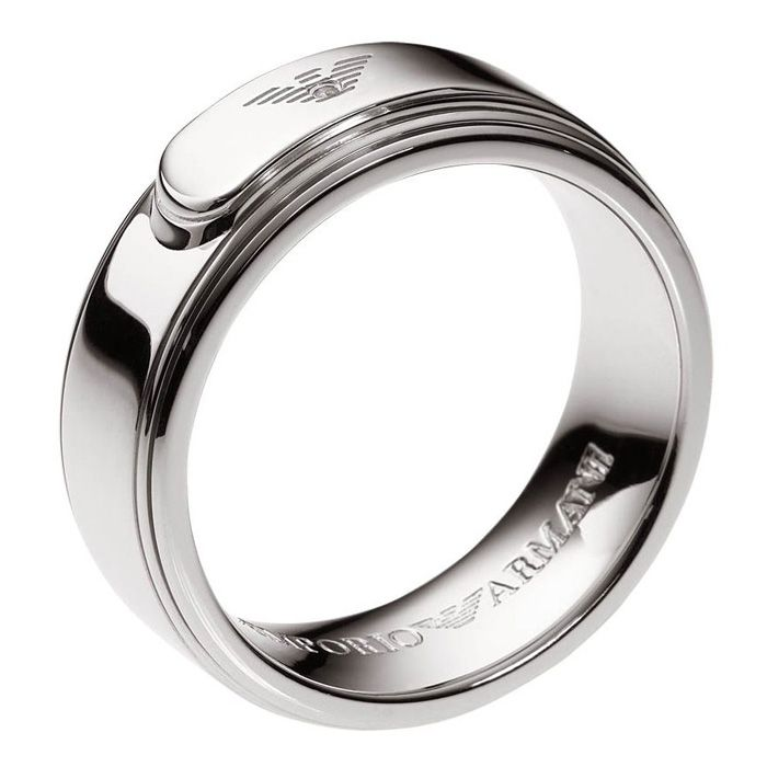 4df9ec8671 Emporio Armani Mens Ring Silver 925 EG2966040 | accessories | Rings ...