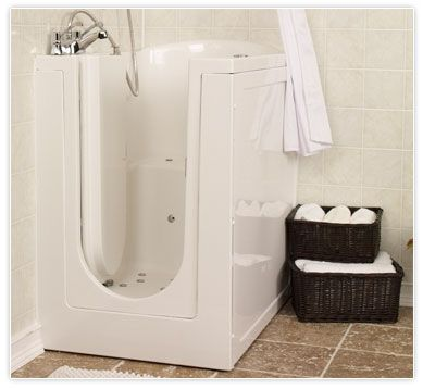 The Compact Extra Deep Cove Compact Walk In Tub Offers Either A