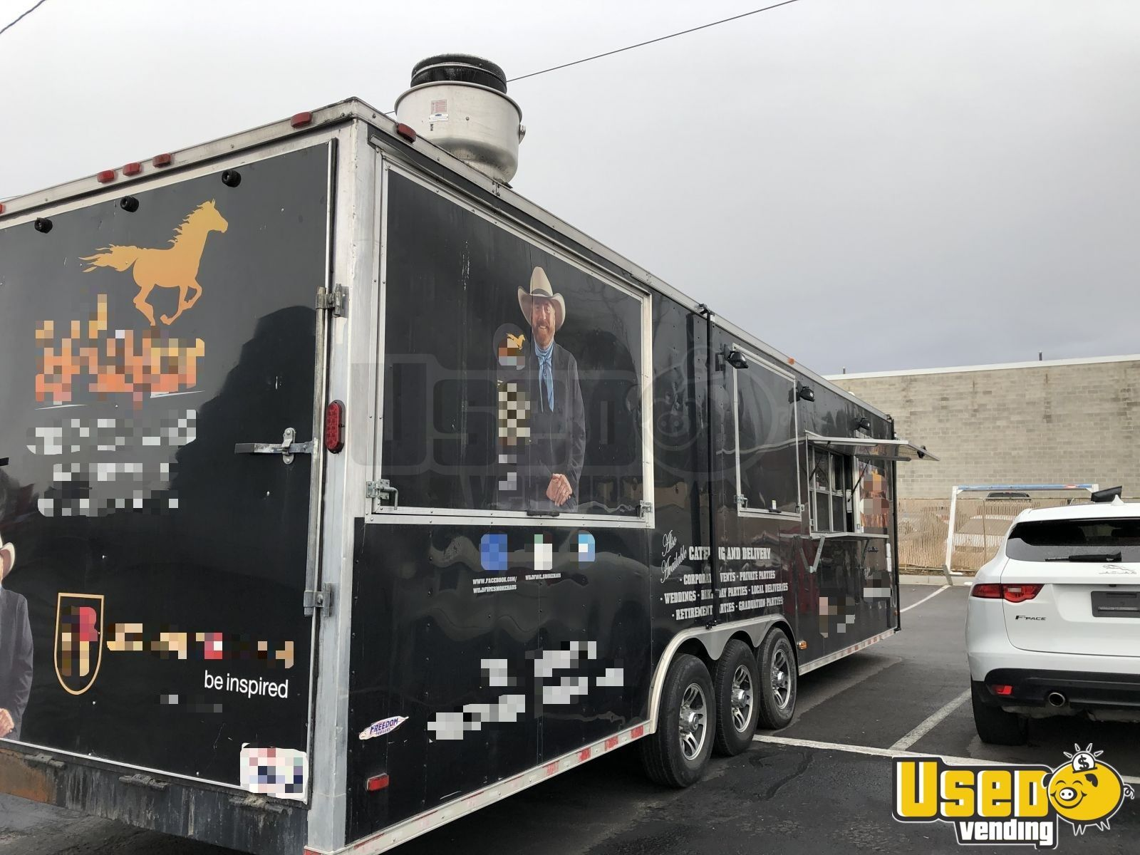 2017 8 x 38 freedom bbq food concession trailer with