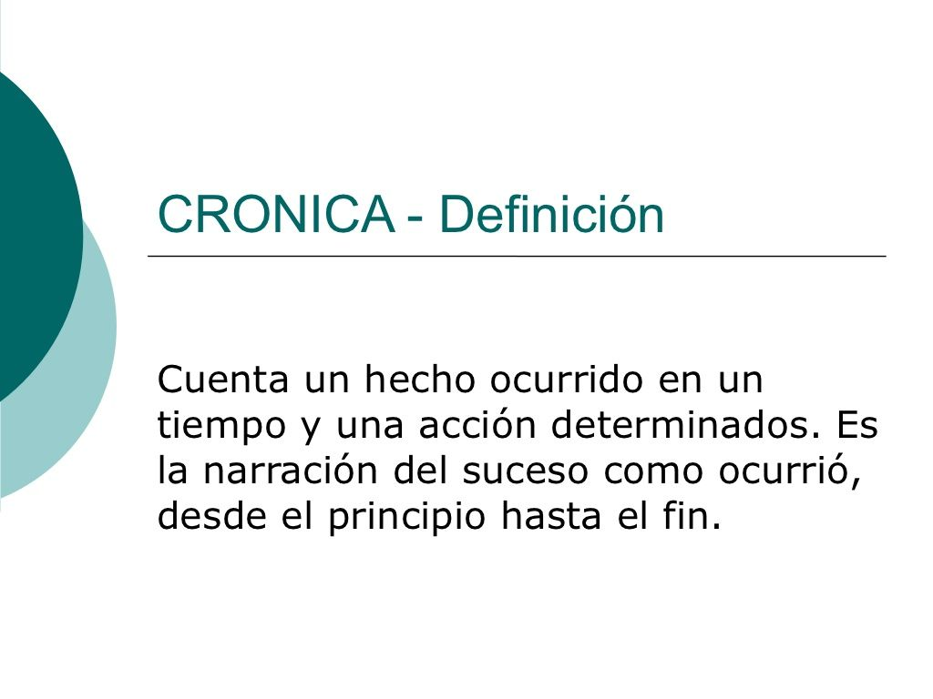 Cronica By Joemero Via Slideshare Con Imagenes Cronica Leer Y