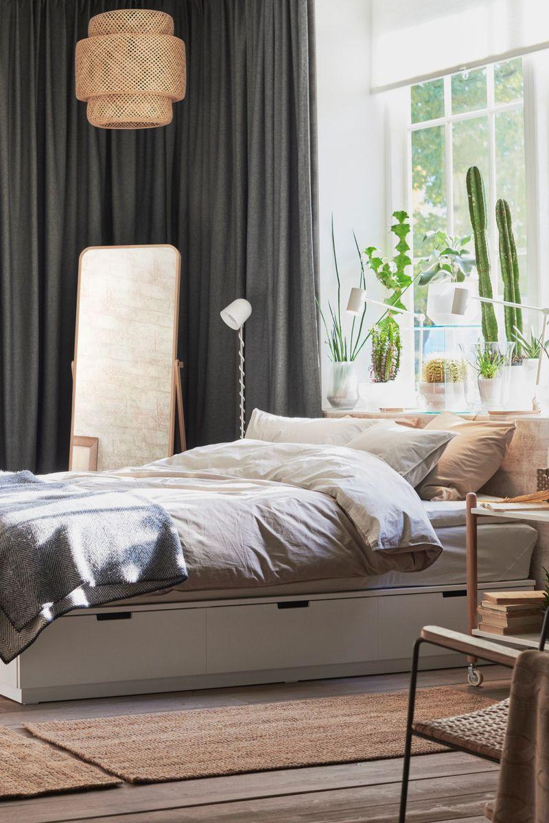 Nordli Bettgestell Mit Schubladen Weiss Ikea Deutschland In 2020 Schlafzimmer Ideen Gemutlich Luxusbettwasche Bettgestell