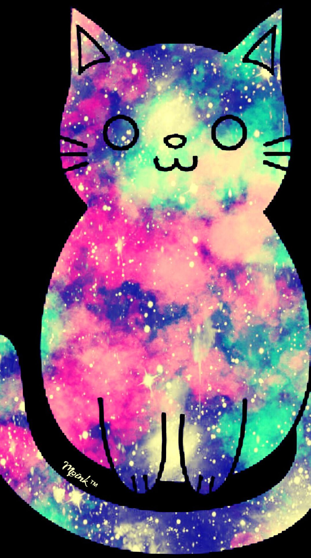 Cute Cat Galaxy Iphone Android Wallpaper I Created For The App Top Chart Wallpaper Iphone Cute Galaxy Wallpaper Glitter Wallpaper